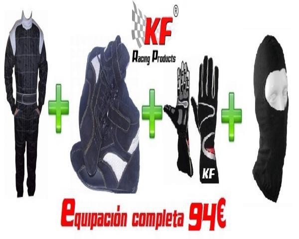 EQUIPACIÓN COMPLETA KARTING ECO NEGRO