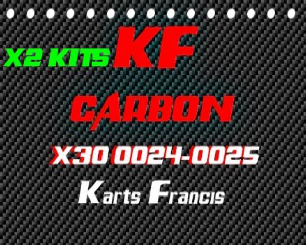 X2 JUEGOS DE LAMINAS-KIT 2 LAMINAS CARBONO X30 ALTA CALIDAD