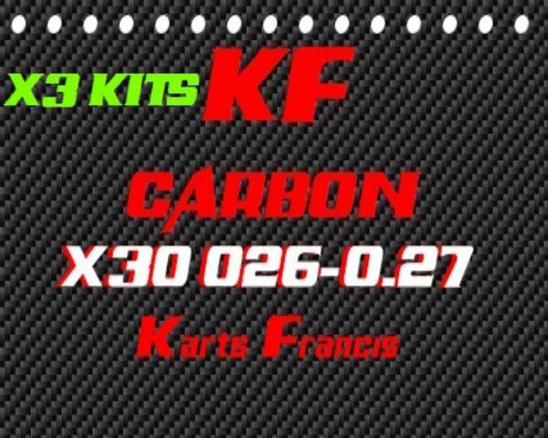 X3 JUEGOS DE LAMINAS-KIT 2 LAMINAS CARBONO X30 ALTA CALIDAD