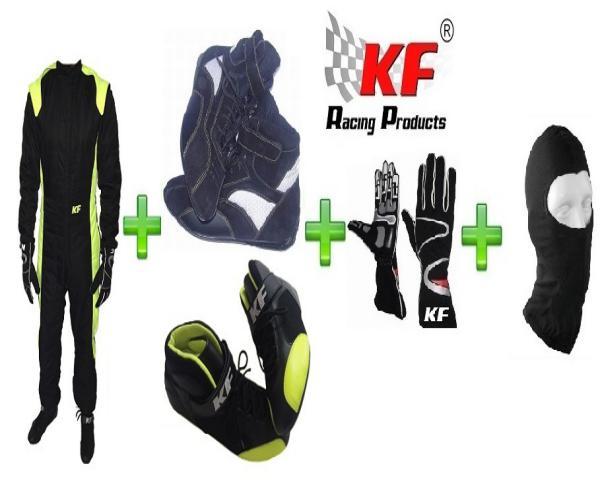 EQUIPACIÓN COMPLETA KARTING ECO KF MX1 NEGRO/FLUO