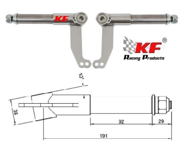 JUEGO MANGUETAS KF 25mm Rod.10mm